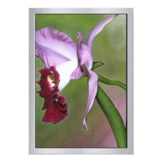 Purple Cattleya Orchid in Profile 13 Cm X 18 Cm Invitation Card