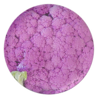 Purple cauliflower for sale plate