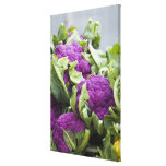 Purple cauliflower gallery wrapped canvas