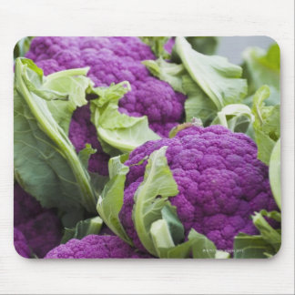 Purple cauliflower mouse pad