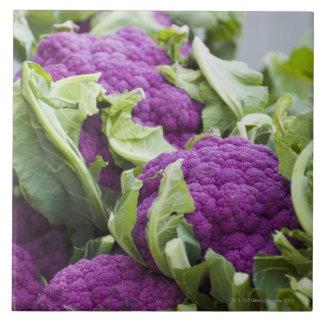 Purple cauliflower tile