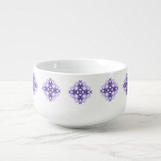 Purple Celtic Cross Soup Mug