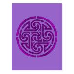 Purple Celtic Knot Design