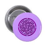 Purple Celtic Knot Design Pinback Button