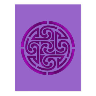 Purple Celtic Knot Design Postcard