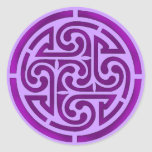 Purple Celtic Knot Design Round Sticker
