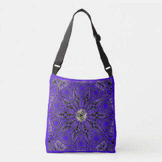 Purple Celtic Triskele Mandala Bag