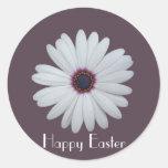 Purple Centred Daisy Round Sticker