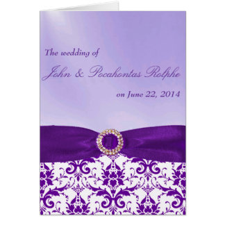 Purple Ceremony and Reception Programs Greeting Card