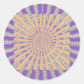 Purple Chakra - Cool Purple Breeze Round Sticker