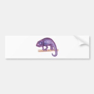 Purple Chameleon Bumper Sticker