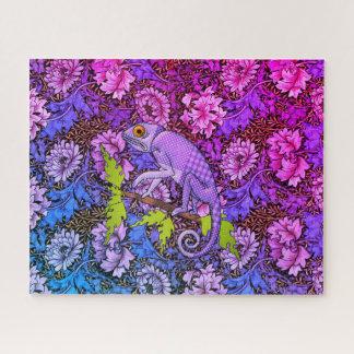 Purple Chameleon in a Purple Garden Jigsaw Puzzle