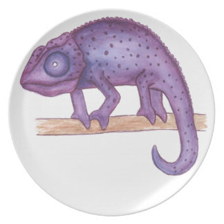 Purple Chameleon Plate