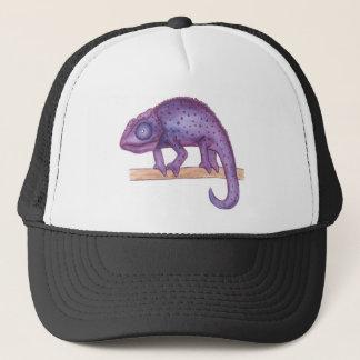 Purple Chameleon Trucker Hat