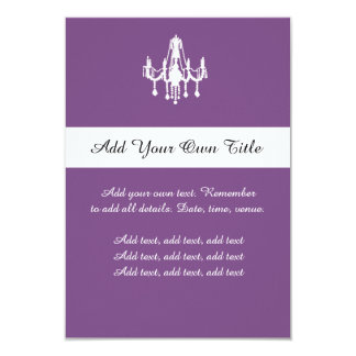 Purple Chandelier Custom Wedding Day Invitation