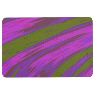 Purple chartreuse Color Swish Abstract Floor Mat