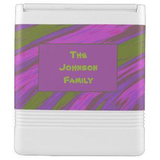 Purple chartreuse Color Swish Abstract Igloo Cool Box