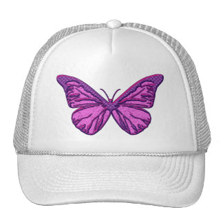Purple Check Butterfly Cap