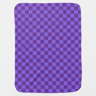 Purple Checkered Baby Blanket