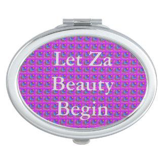 Purple Checkered Beauty Vanity Mirror