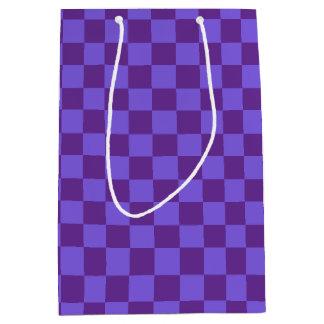 Purple Checkered Medium Gift Bag