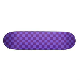 Purple Checkered Skate Boards