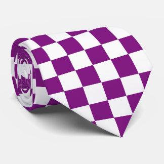Purple Checkered Tie