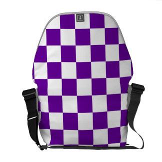 Purple Checks Courier Bags