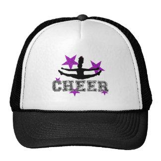 Purple Cheerleader Hats