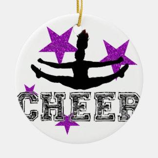 Purple Cheerleader Christmas Ornament