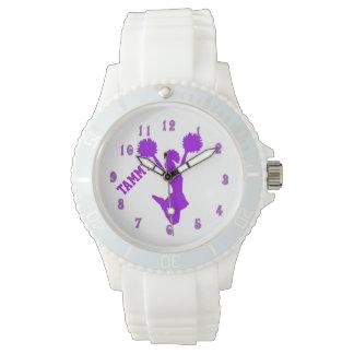 Purple Cheerleader Custom Watch