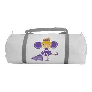 Purple Cheerleader Duffle Bag Gym Duffel Bag