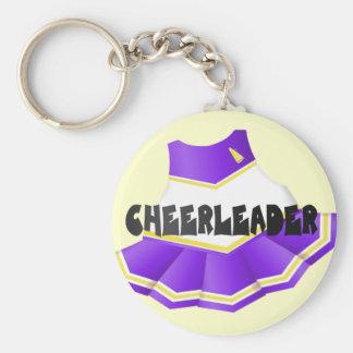 Purple Cheerleader Keychain