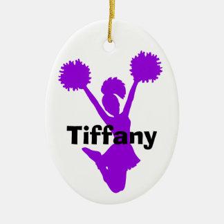 Purple Cheerleader Ornament
