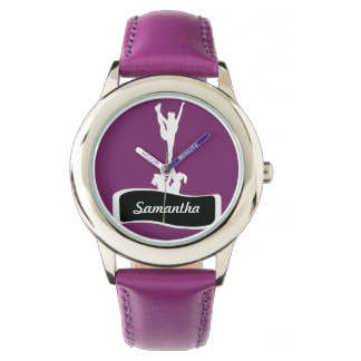 Purple Cheerleader personalized watch