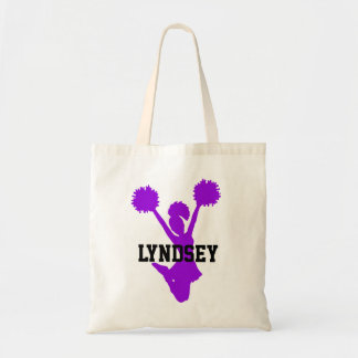 Purple Cheerleader Tote Bag