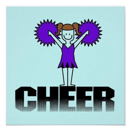 Purple Cheerleading T-shirts and Gifts Poster