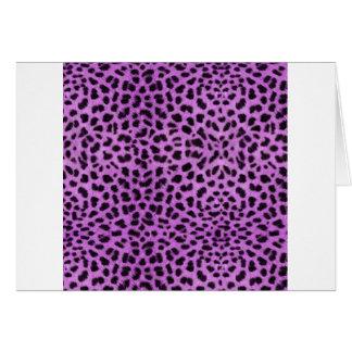 Purple Cheetah Print Card
