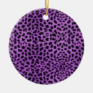 Purple Cheetah Print Christmas Ornament