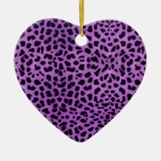Purple Cheetah Print Christmas Ornament