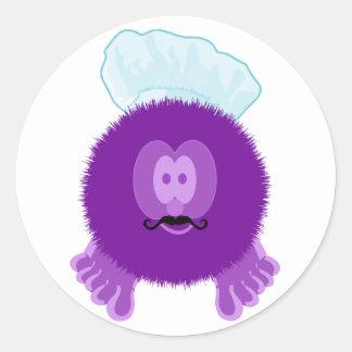 Purple Chef Pom Pom Pal Stickers