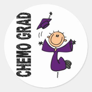 Purple CHEMO GRAD 1 (Pancreatic Cancer) Classic Round Sticker