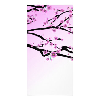 Purple Cherry Blooms Photo Greeting Card