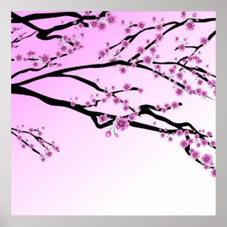 Purple Cherry Blossom Sakura Poster