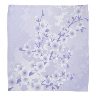 Purple Cherry Blossoms Flowers Bandana