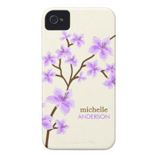 Purple Cherry Blossoms Tree iPhone 4 Cover