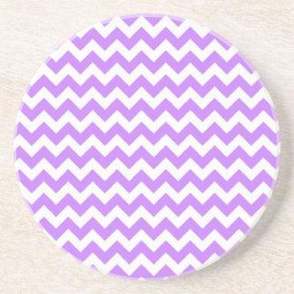 Purple Chevron and Zig Zag Coaster