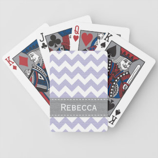 Purple Chevron Bicycle® Playing Cards