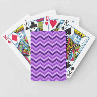 Purple Chevron Bicycle Playing Cards