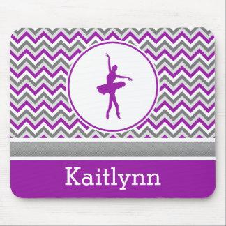 Purple Chevron Dancer Personalized Mouse Pad